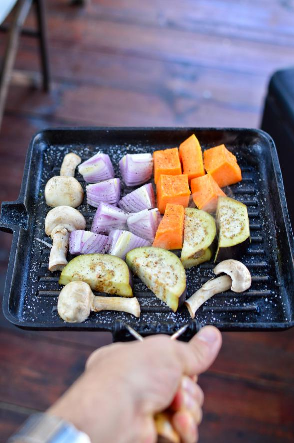 Grilled Vegetables in pan - Sonoran Spice