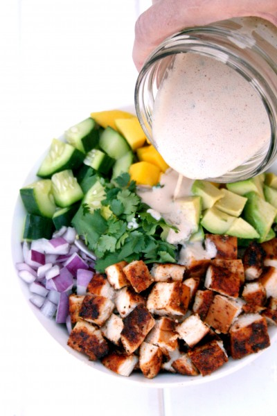 Chipotle Chicken Mango Salad with Chipotle Ranch