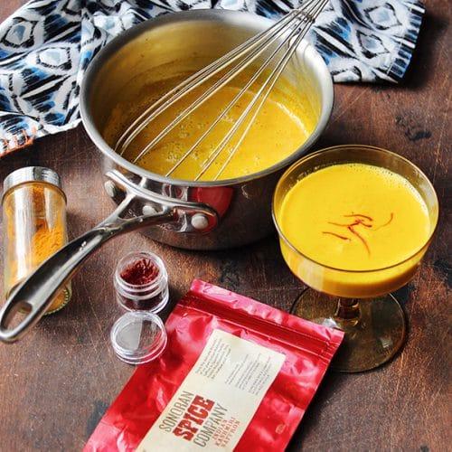 Saffron Golden Milk With Sonoran Spice Indian Kashmiri Saffron Threads