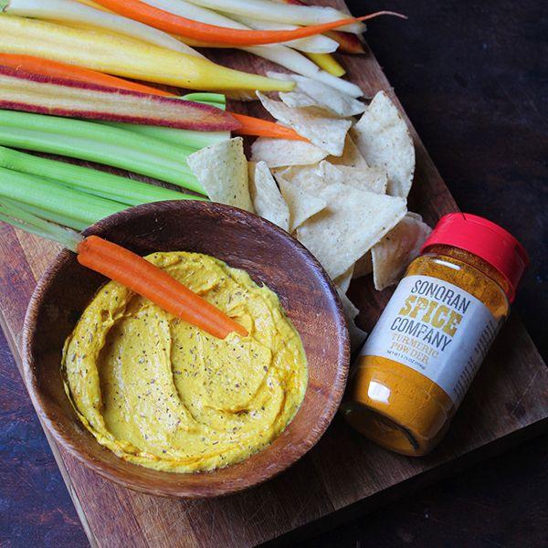 Turmeric Hummus With Sonoran Spice Turmeric Powder