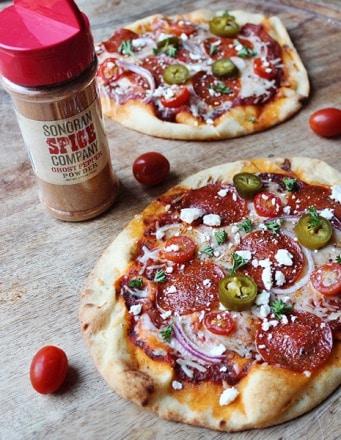 Firecracker pizza with Sonoran Spice Ghost Pepper Powder