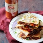 turkey and cheese quesadilla using sonoran spice cayenne pepper