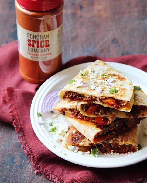 Turkey and Cheese Quesadillas With Sonoran Spice Cayenne Pepper Powder
