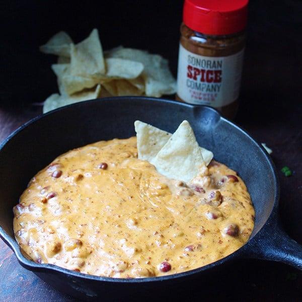Chili Queso Dip With Sonoran Spice Chipotle Powder