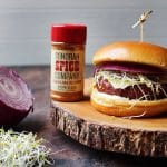 veggie burger using sonoran spice carolina reaper powder