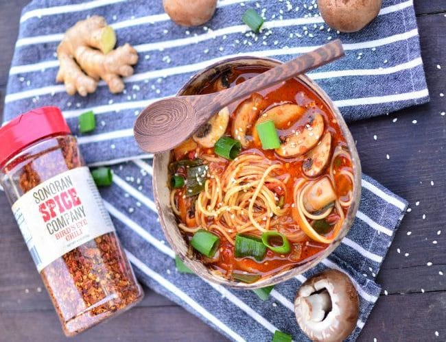 Vegan Ramen Noodles | Sonoran Spice Bird's Eye Chili Flakes