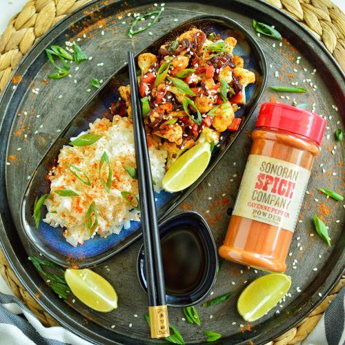 Cauliflower Stir Fry | Sonoran Spice Cayenne Pepper Powder