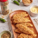 Crispy chicken with spicy mayo