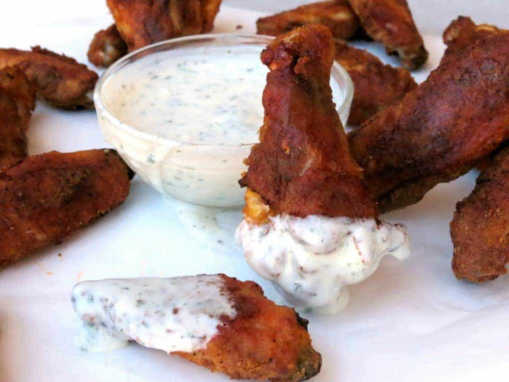 Carolina Reaper wings with ranch